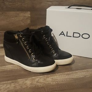 ALDO OTTANI hidden wedge sneakers.